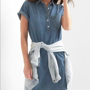 Gap Denim Popover Shirtdress